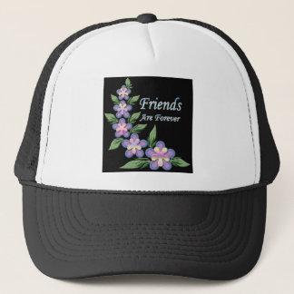 Casquette les amis sont pour toujours avec des fleurs