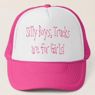 Casquette Les garçons idiots, camions sont pour des filles !
