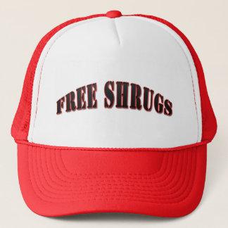 Casquette libre drôle rouge de shrugs