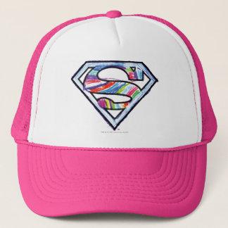 Casquette Logo coloré de croquis de Supergirl