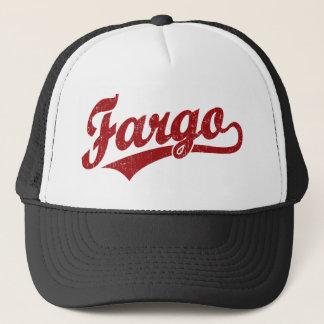 Casquette Logo de manuscrit de Fargo en rouge