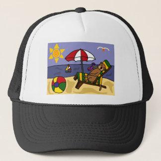Casquette Loutre de mer drôle à la plage