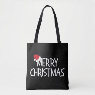 Casquette lunatique de Père Noël de Joyeux Noël Tote Bag