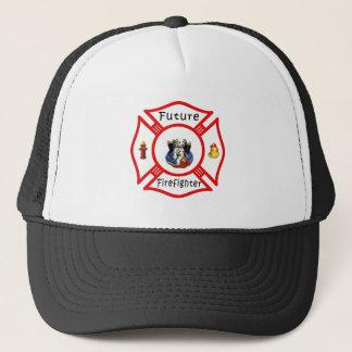 Casquette Maltais rouge de futur sapeur-pompier