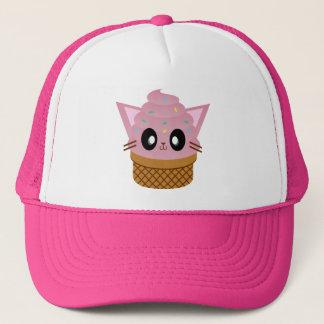 Casquette meow de chat de crème glacée de cône de minou de