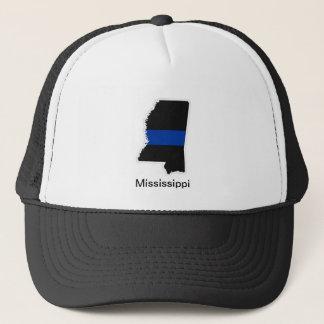 Casquette mince de camionneur du Mississippi Blue