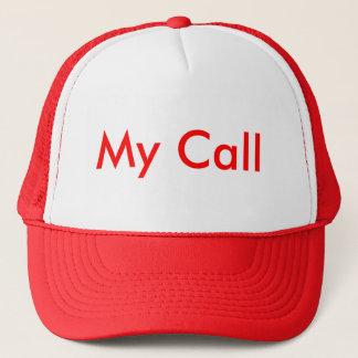 Casquette Mon appel en rouge