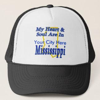 Casquette Mon coeur et âme sont au Mississippi