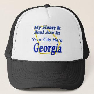 Casquette Mon coeur et âme sont en Géorgie
