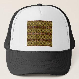 Casquette motif brun et ovale