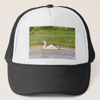 Casquette Natation blanche de cygne de mère en conformité