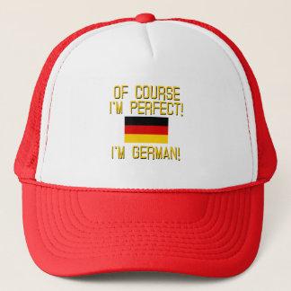 Casquette Naturellement je suis parfait, je suis allemand !