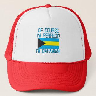 Casquette Naturellement je suis parfait, je suis bahamien !
