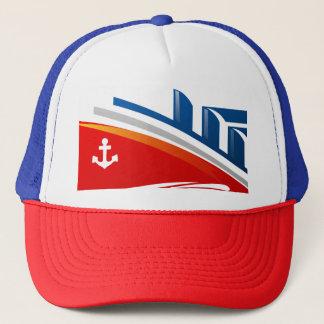 Casquette nautique de logo de bateau d'océan de