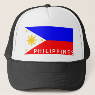 Casquette Nom des textes de pays de drapeau de Philippines