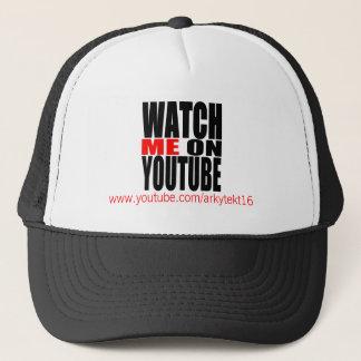 Casquette Observez-moi sur YouTube   modernes (foncé)