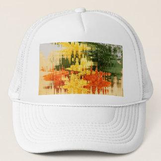 Casquette orange abstraite
