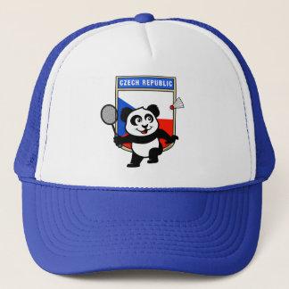 Casquette Panda de badminton de République Tchèque