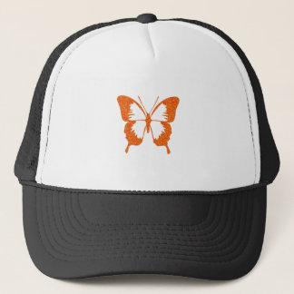 Casquette Papillon dans l'orange métallique