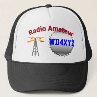 Casquette par radio amateur