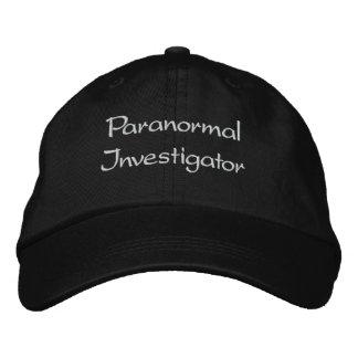 Casquette paranormal brodé d'investigateur
