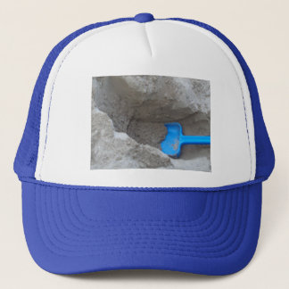 Casquette Pelle de creusement à sable de plage d'été, scoop,