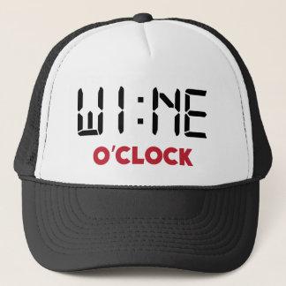 Casquette Pendule à lecture digitale heure drôle de vin