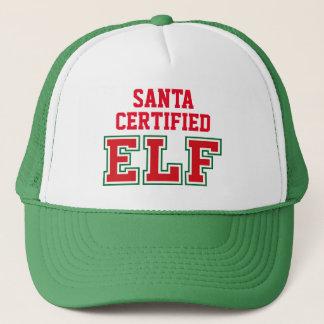 Casquette Père Noël a certifié Elf