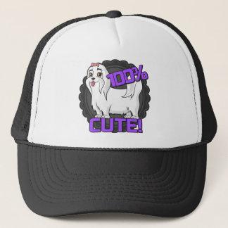 Casquette Petit chien blanc - 100% mignon !