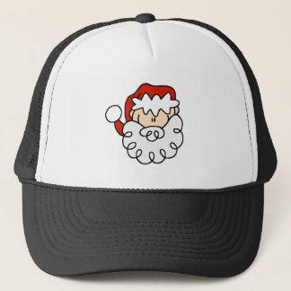 Casquette Petit chiffre mignon visage de bâton de Père Noël