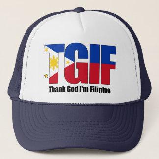 Casquette Philippin de TGIF avec le drapeau philippin