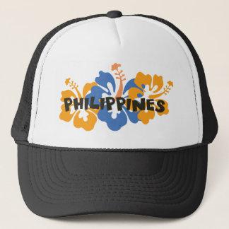 Casquette Philippines sur les fleurs tropicales de ketmie