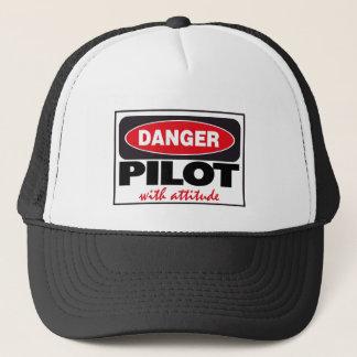 Casquette Pilote avec le signe de danger d'attitude