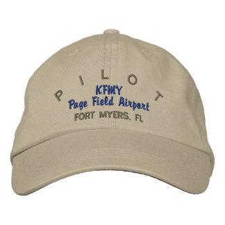 Casquette pilote de coutume d'aviateur casquettes brodées