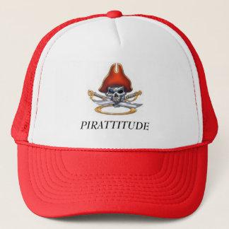 Casquette pirate-crâne-rouge, PIRATTITUDE