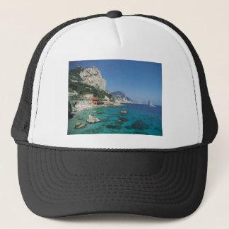 Casquette Plage de côte de la mer Méditerranée de l'Italie