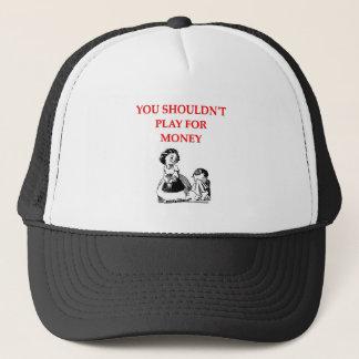 Casquette plaisanterie de joueurs de carte