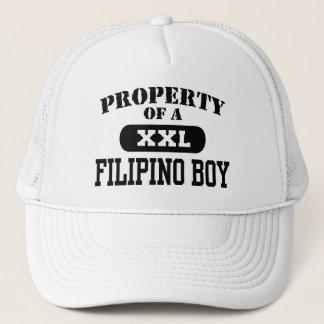 Casquette Propriété d'un garçon philippin