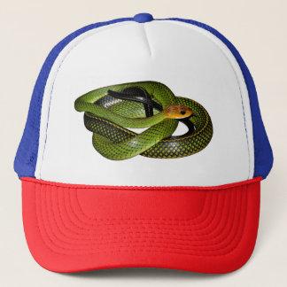 Casquette Ratsnake Noir-mis en marge ou serpent de rat vert