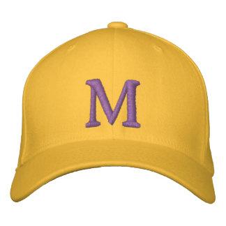 Casquette réglable décoré d'un monogramme de M Casquettes De Baseball Brodées