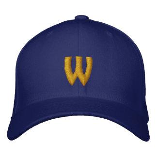 Casquette réglable décoré d'un monogramme de W Casquette De Baseball Brodée