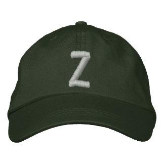 Casquette réglable décoré d'un monogramme de Z
