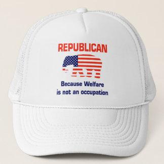Casquette Républicain drôle - aide sociale