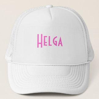Casquette rose et blanc de Helga