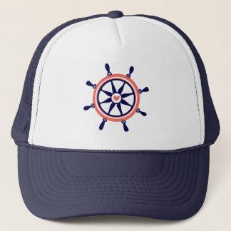 Casquette Roue nautique bleue et orange mignonne de bateau