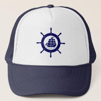 Casquette Roue nautique de bateau de bleu marine