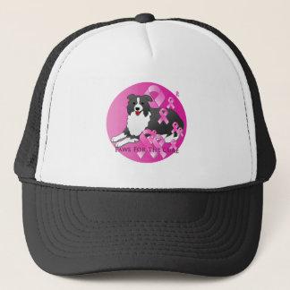 Casquette Ruban de rose de chien de border collie