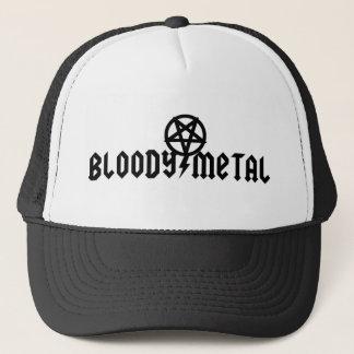 Casquette sanglant en métal