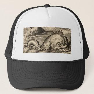 Casquette Serpent de mer montant une vague
