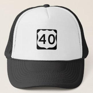 Casquette Signe de l'itinéraire 40 des USA